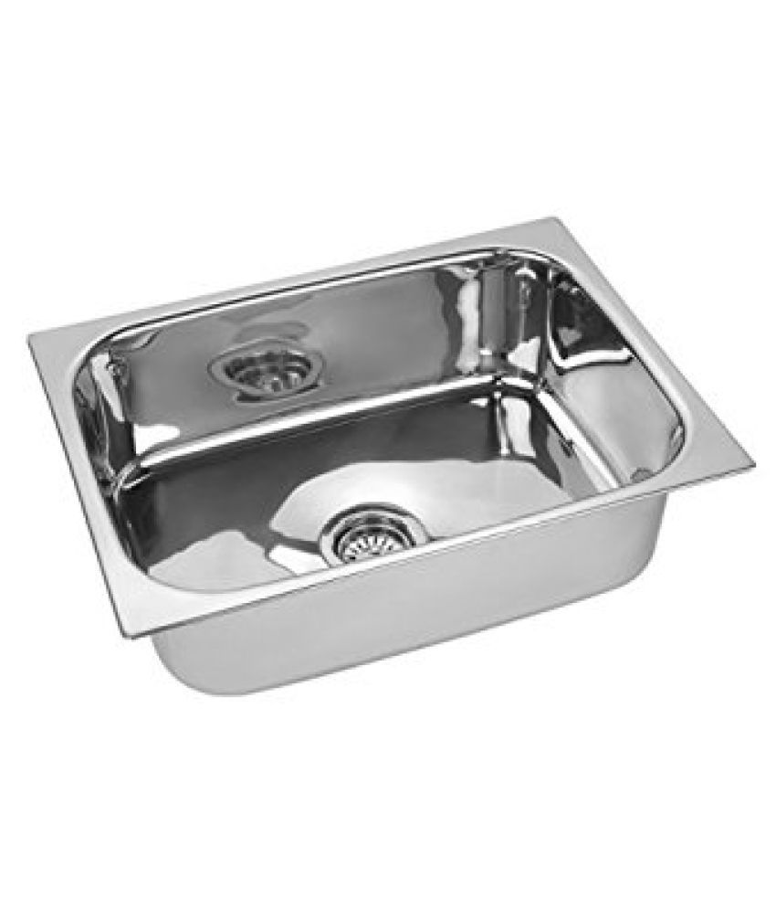 Orange Kitchen Sinks Stainless Steel Single Bowl