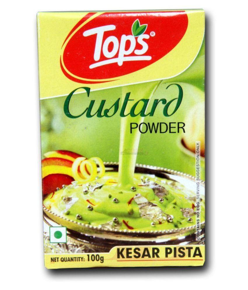 Tops Custard Powder Kesar Pista 100 gm: Buy Tops Custard Powder