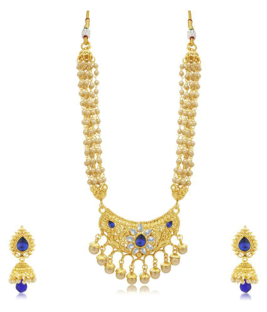 Sukkhi Glamorous Gold Plated Necklace Set For Women
