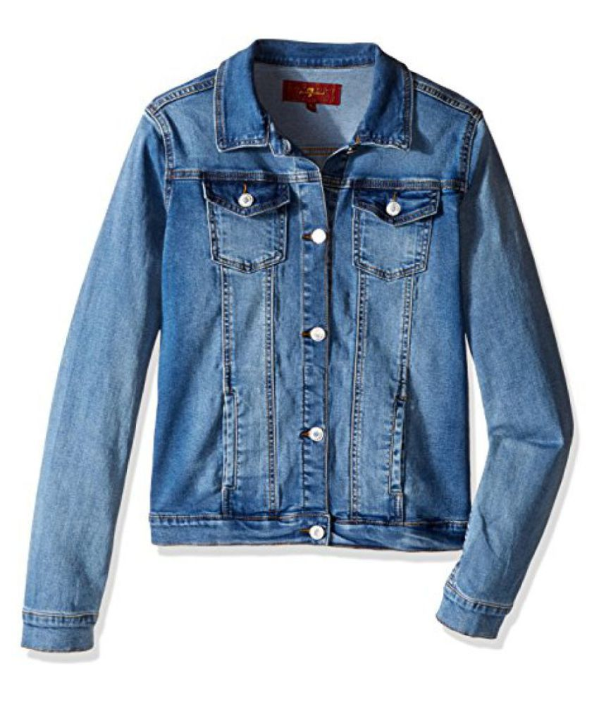 7 For All Mankind Girls' Stretch Denim Jacket