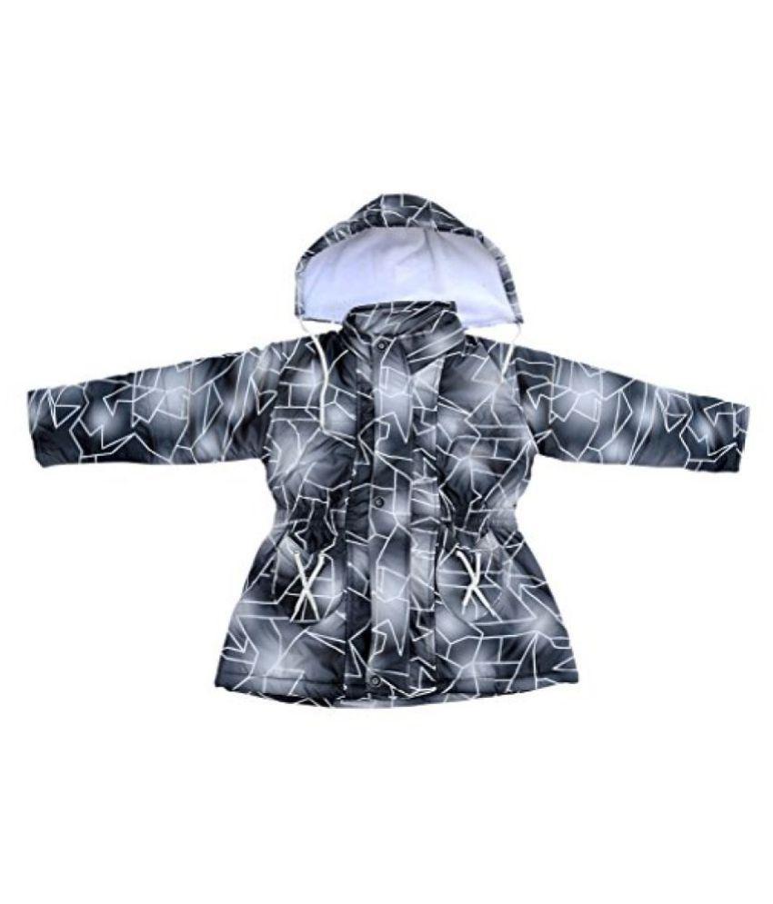 Fashion Addiction Girls' Nylon Jacket (Black, 4-5 Years)
