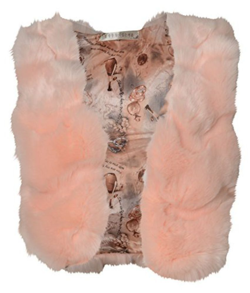 MY Trial Room Girl's Coat (J0045, Peach, Medium)