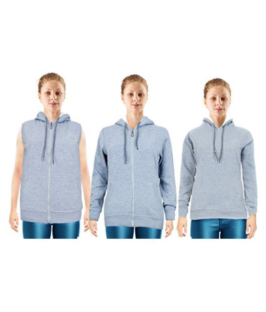 NGT Three Grey Sweatshirts For Women in High Quality.