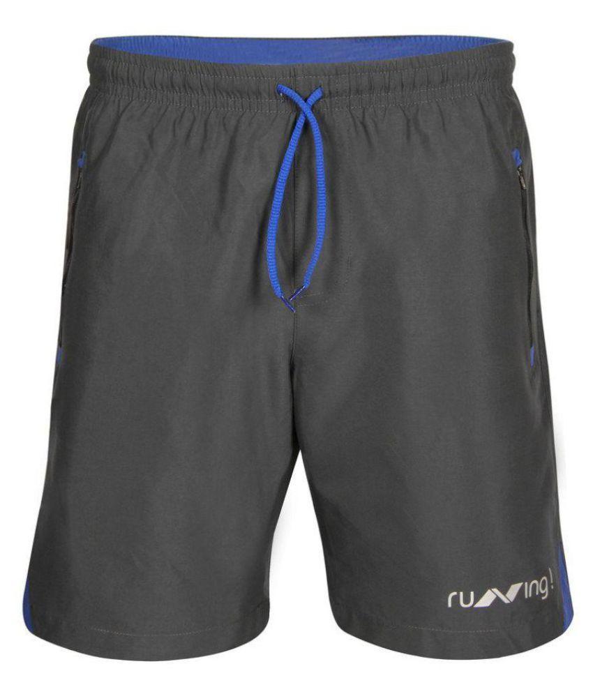 Nivia Grey Running Shorts