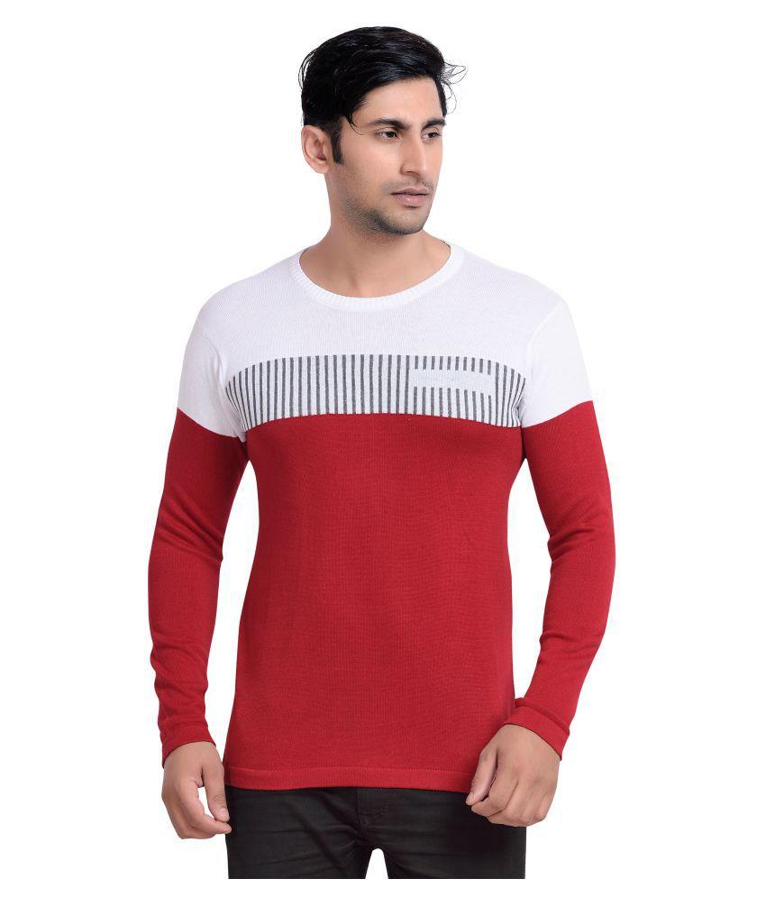 Vivaan Designer Red Round T-Shirt