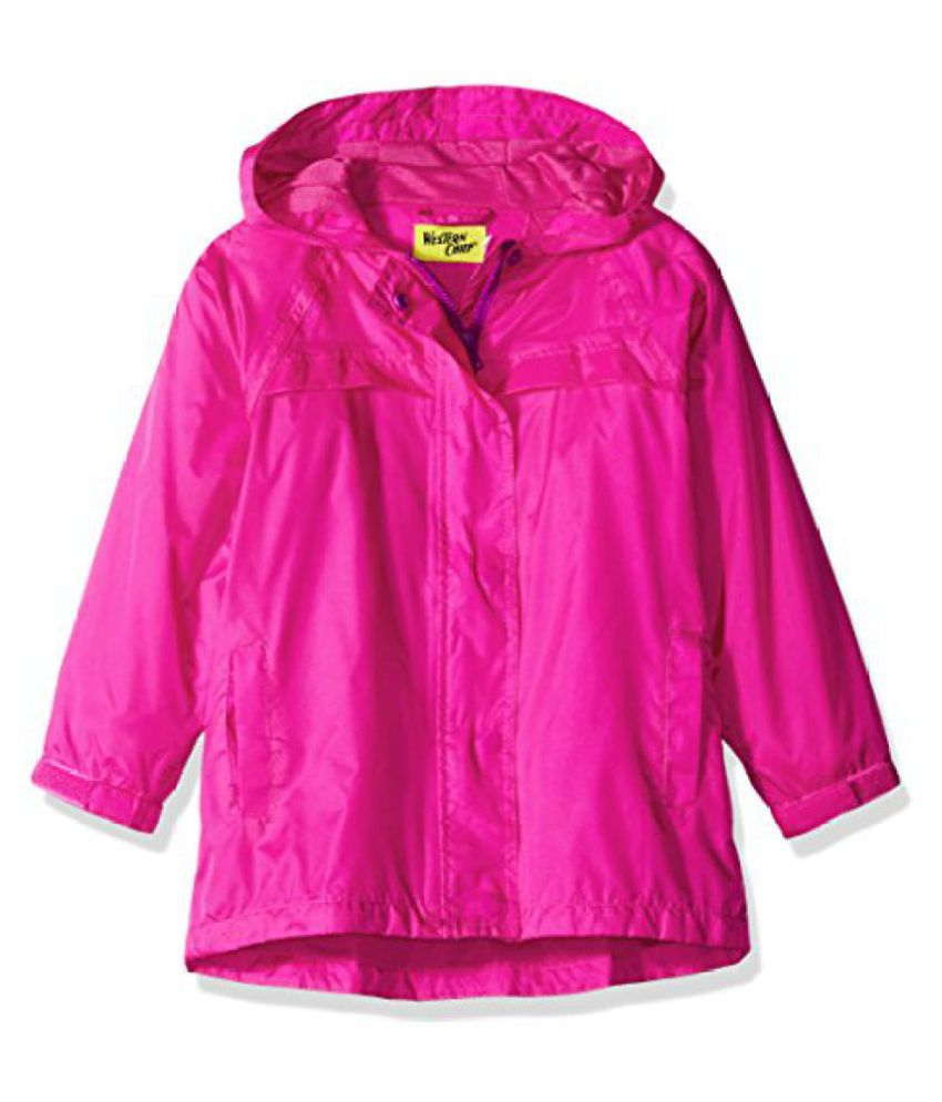 Western Chief Girls' Solid Nylon Rain Coat Pink