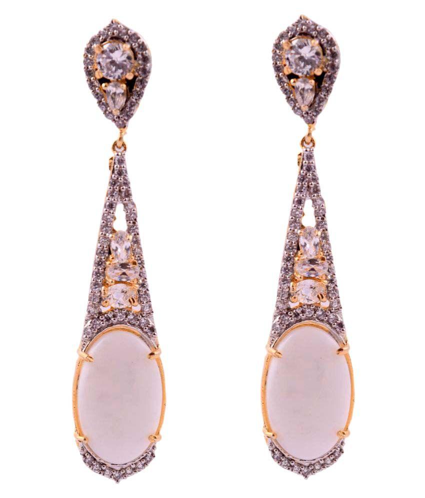 DLS Brass Dangle & Hanging Earrings for Women