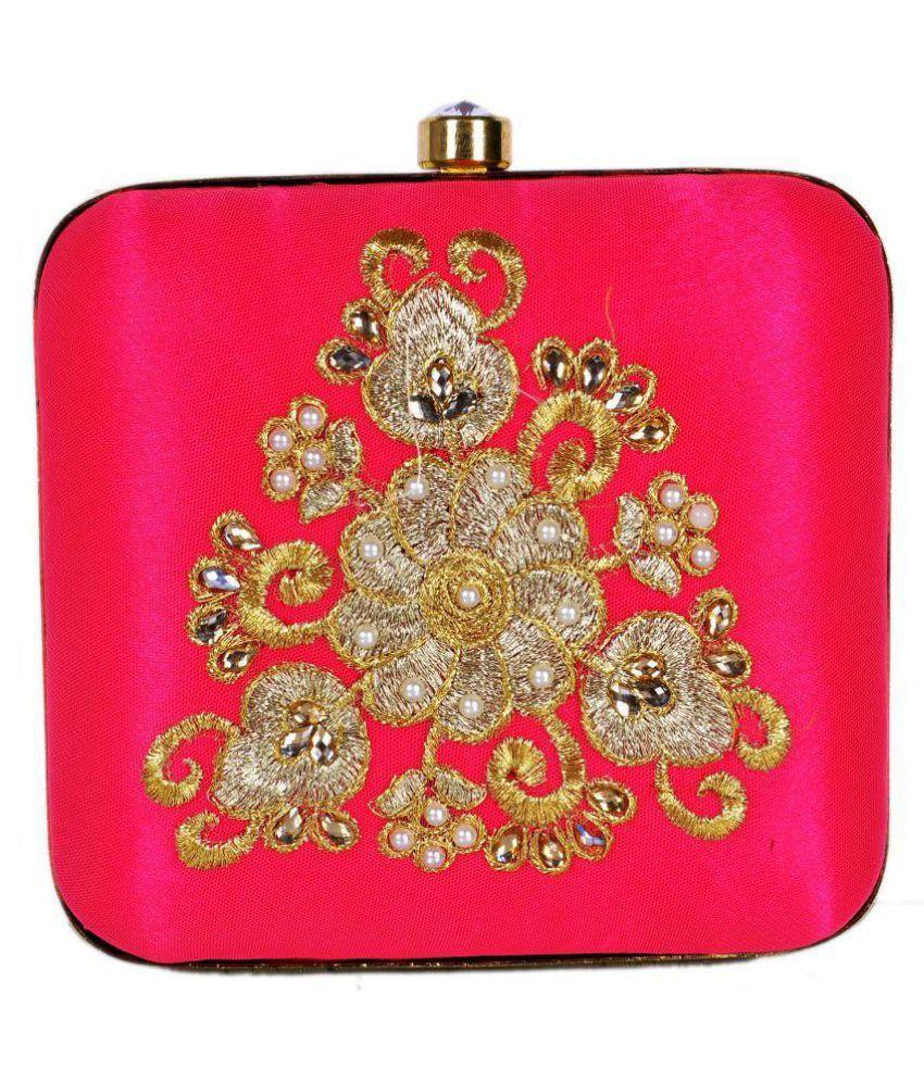 Duchess Pink Fabric Box Clutch