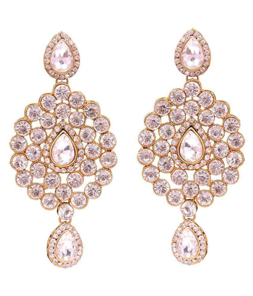 Sitashi American Diamond Dangle Earrings for Girls and Women