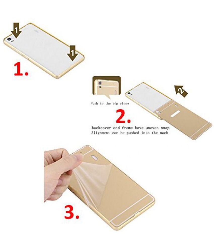 sale retailer 4ff2b a8035 Oppo A37 Mirror Back Covers SNI - Golden
