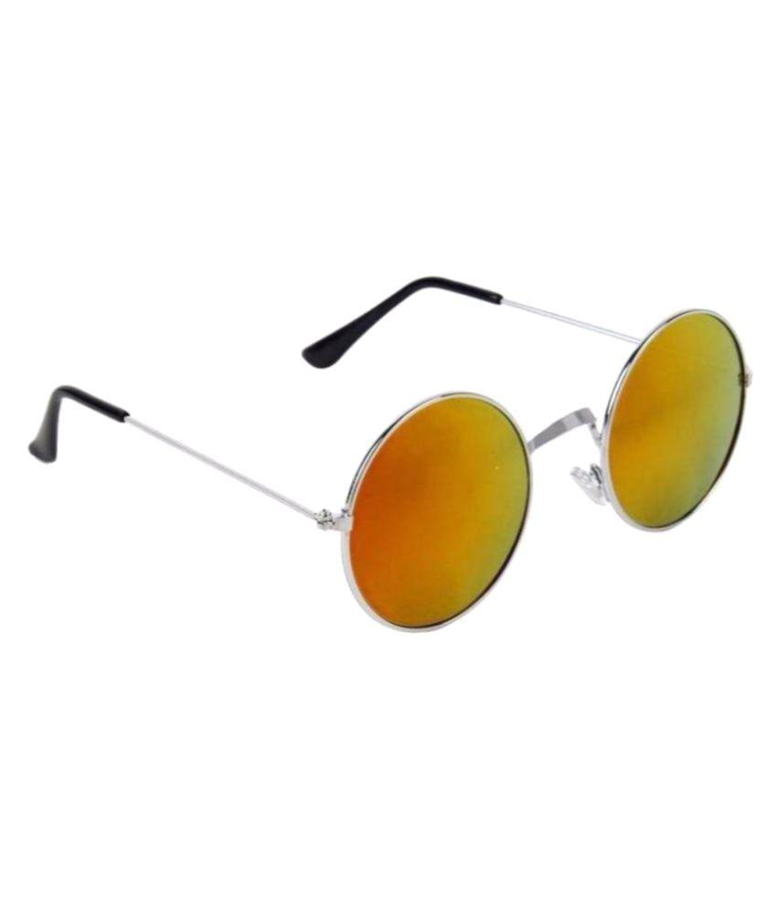 HH Red Round Sunglasses ( H & H-23 )
