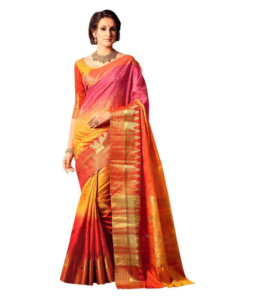 Signature Fashion Multicoloured Tussar Silk Saree