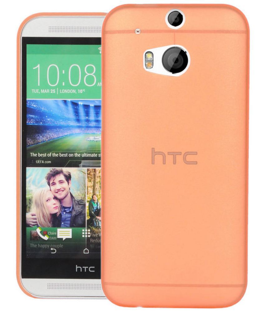 HTC ONE M8 Plain Cases CUBIX - Orange