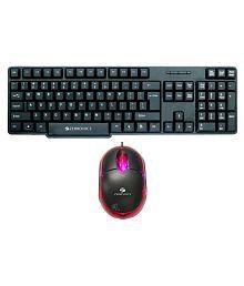 Zebronics ZEB-K11 Black USB Wired Keyboard Mouse Combo