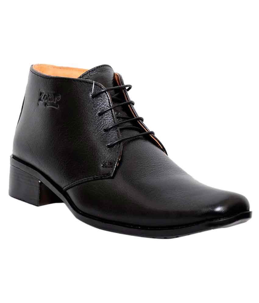 59de3774521c Zoom Black Derby Genuine Leather Formal Shoes Price in India- Buy Zoom Black  Derby Genuine Leather Formal Shoes Online at Snapdeal