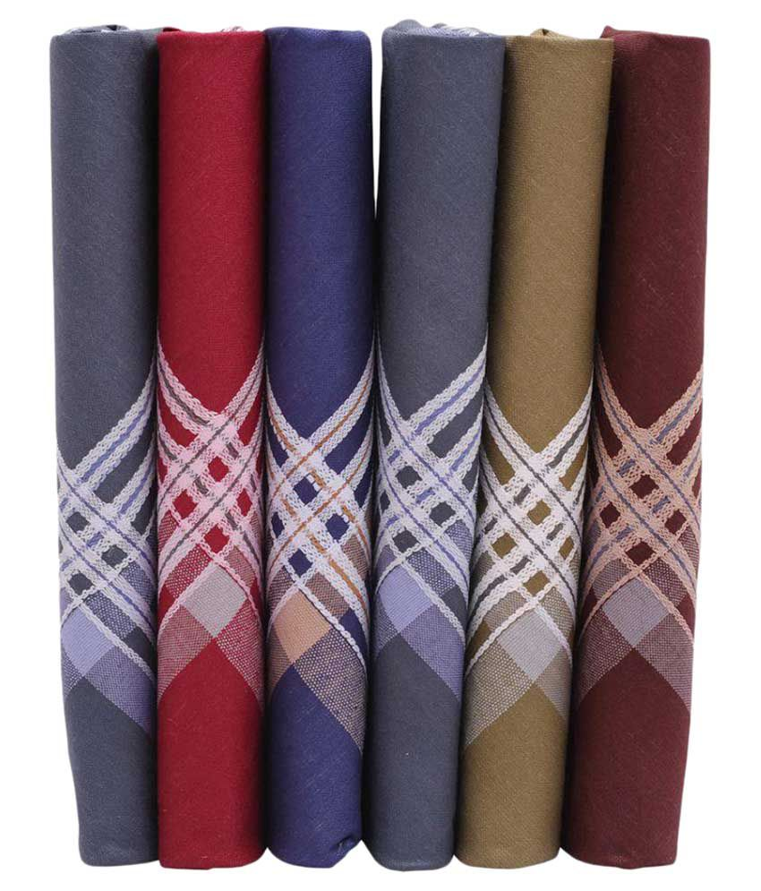 Sir Michele Multicolor Handkerchiefs - Pack of 6