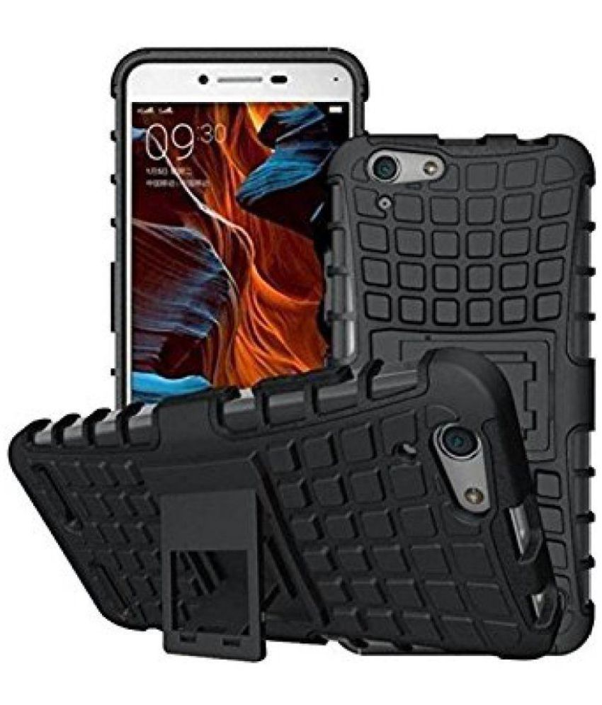 Vivo V5 Cases with Stands Foxyy - Black