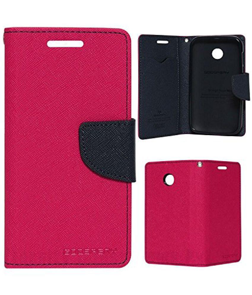 HTC Desire 616 Flip Cover by Goospery - Pink