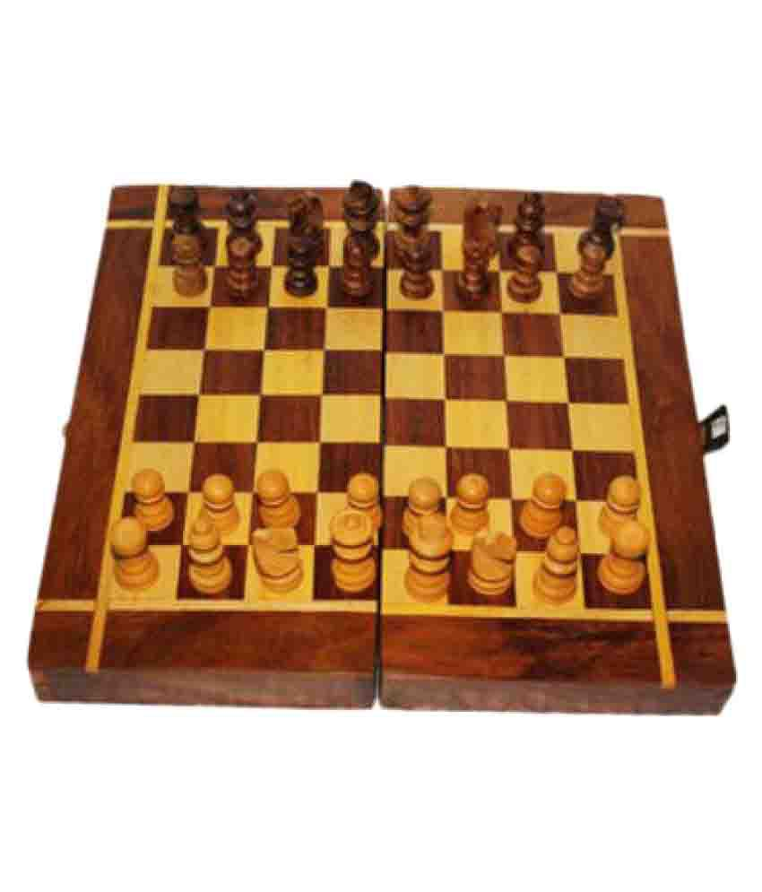 Limra handicrafts wooden chess 8 inches