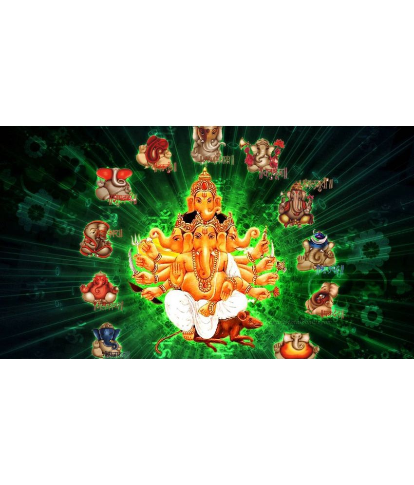 Myimage Lord Ganesha Beautiful Paper Wall Poster Without Frame Single Piece  available at snapdeal for Rs.265