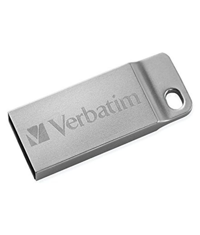 Verbatim 16 GB Metal Executive USB 2.0 Flash Drive, Silver 98748