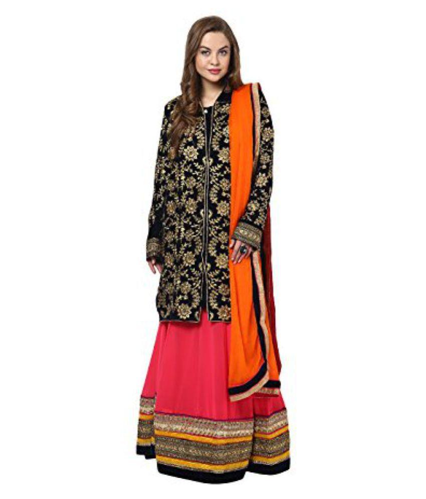 Yepme Womens Blended Kurti, Lehenga & Stole Unstitched Suits - YPMRTS0111-,P