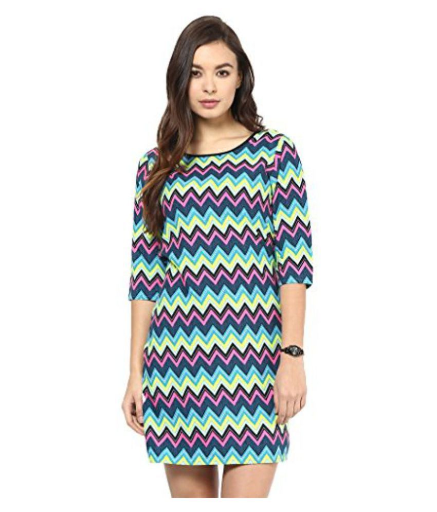 8c90da35e Blue and Yellow Cheveron women western dress - Buy Blue and Yellow Cheveron women  western dress Online at Best Prices in India on Snapdeal