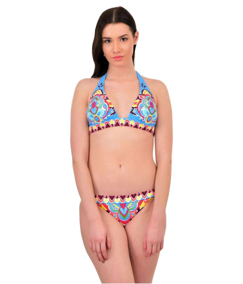 N-Gal Blue Polyester Swimsuit