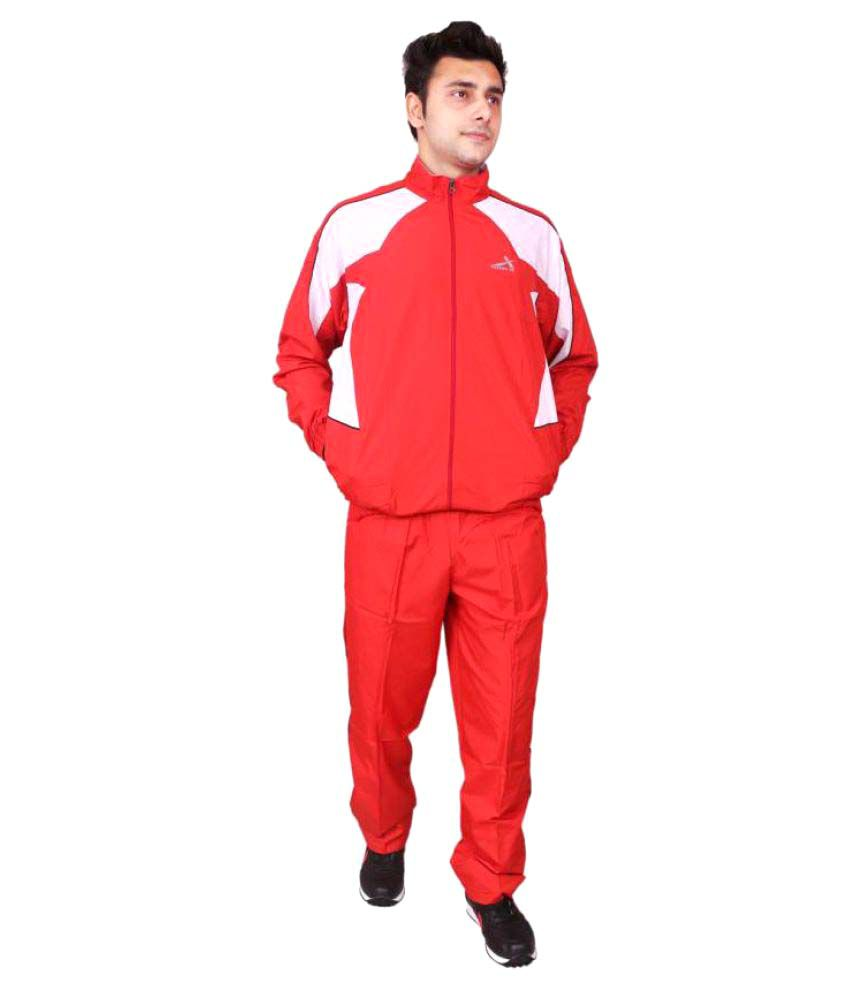 Vector X VTS-700-A Red Solid Men's Track Suit