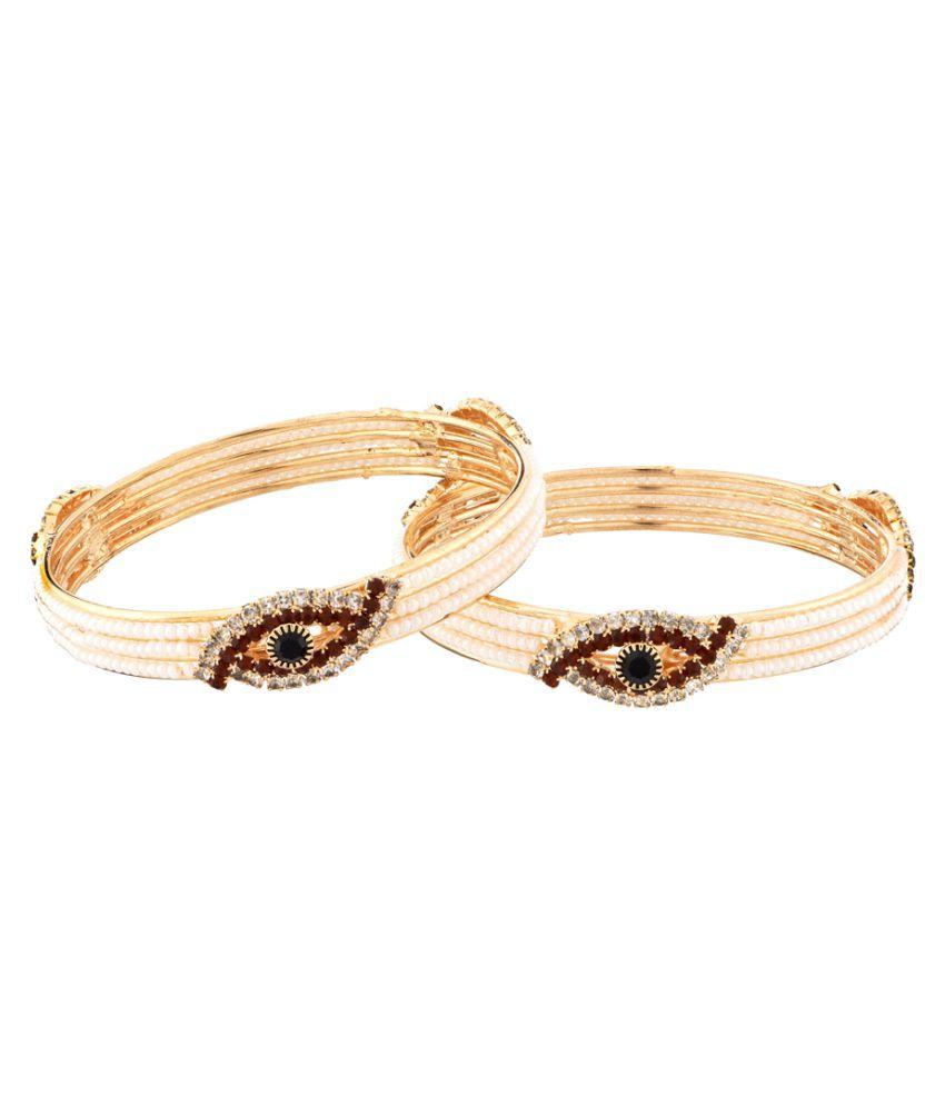 Sapna FX Rose Gold Plated Pair of Bangles