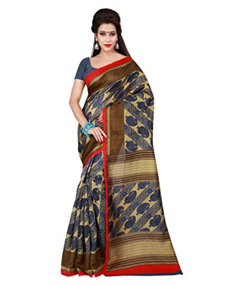 Shonaya Blue Bhagalpuri Silk Saree