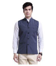 Vandnam Fabrics Blue Nehru Jacket