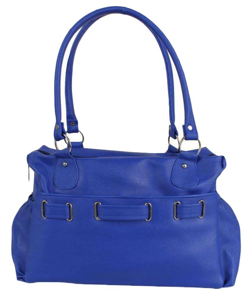 Yours Luggage Blue P.U. Shoulder Bag