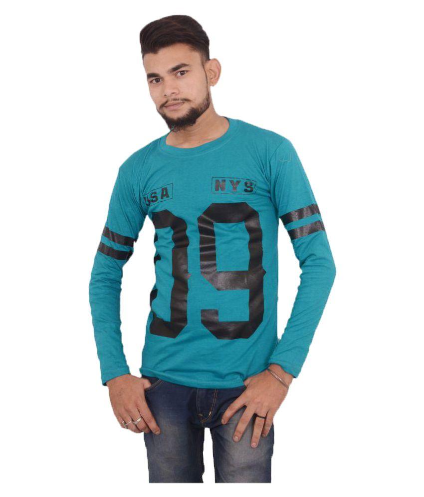 Hero & Piyush Blue Round T-Shirt