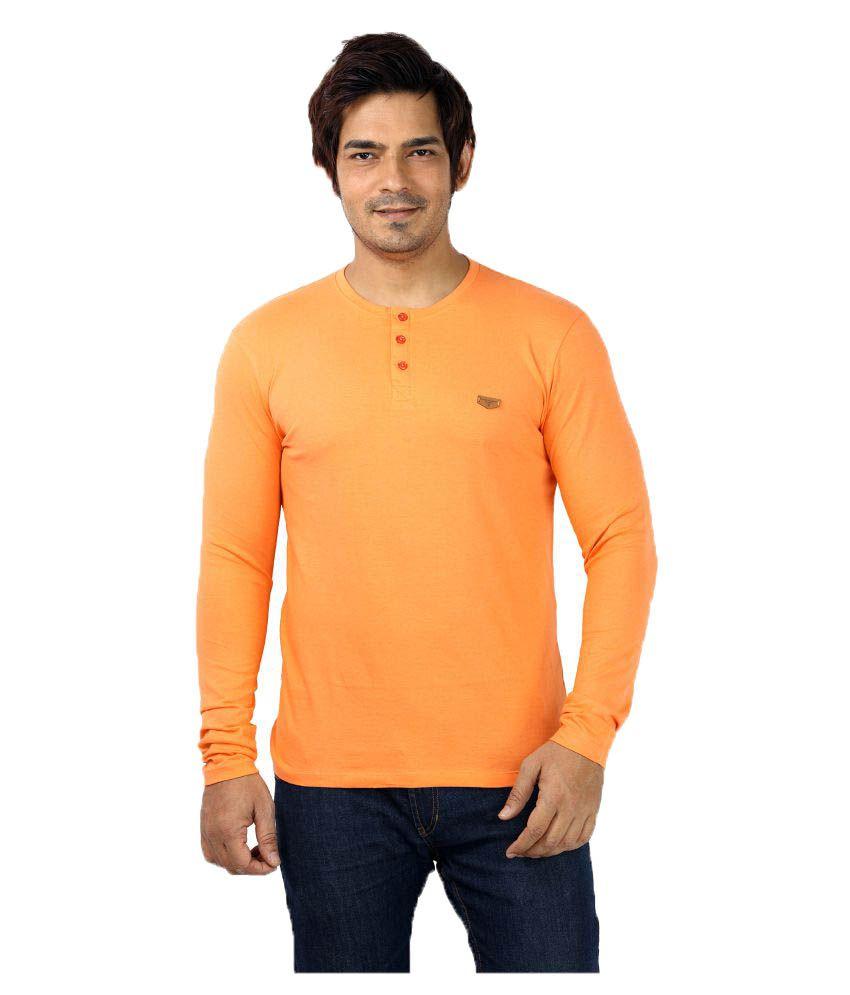 UD Sports Orange Henley T-Shirt
