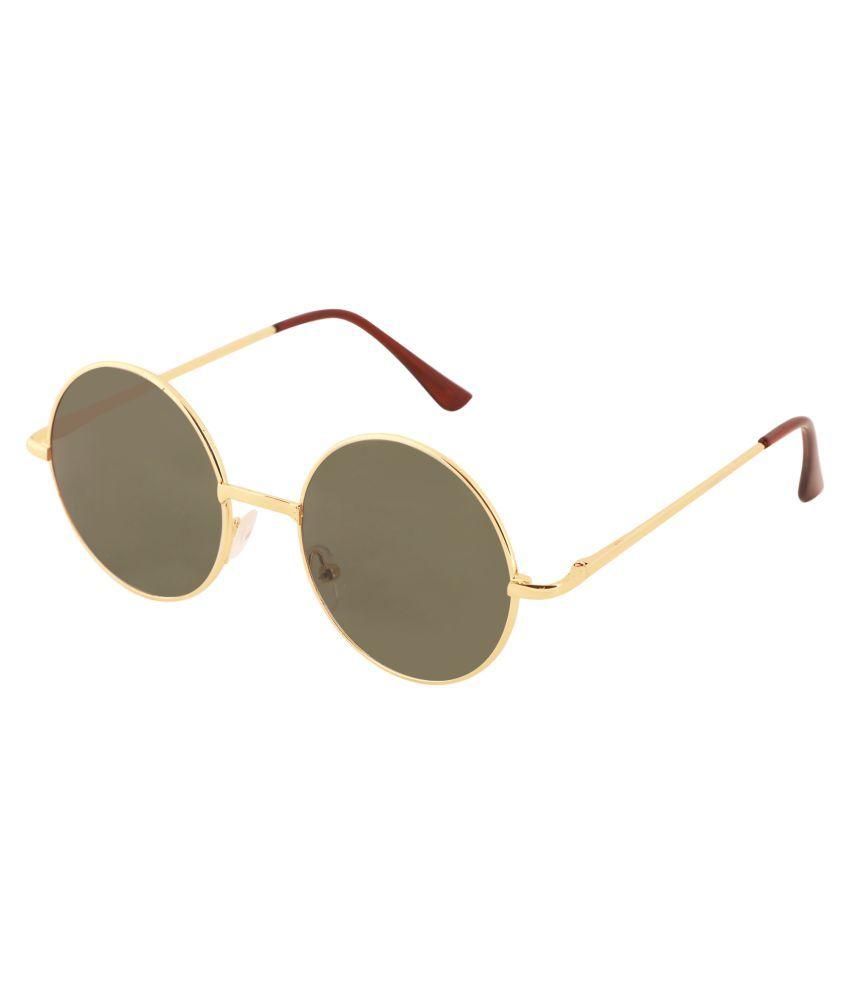 Yora Green Round Sunglasses ( SNG09 )