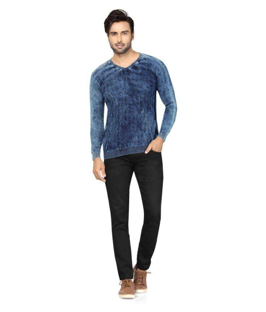 Star Enterprise Blue V-Neck T-Shirt