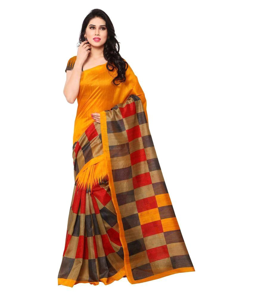 Aaradhya Fashion Multicoloured Art Silk Saree