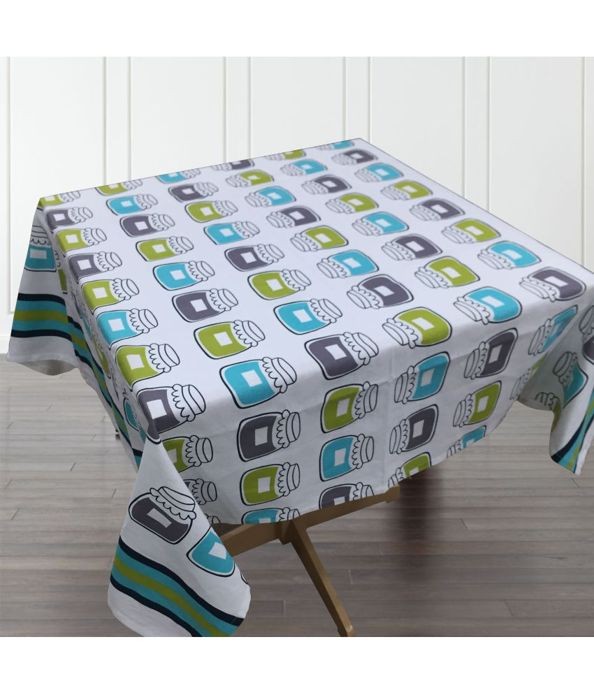 Home Colors 4 Seater Cotton Single Table Covers