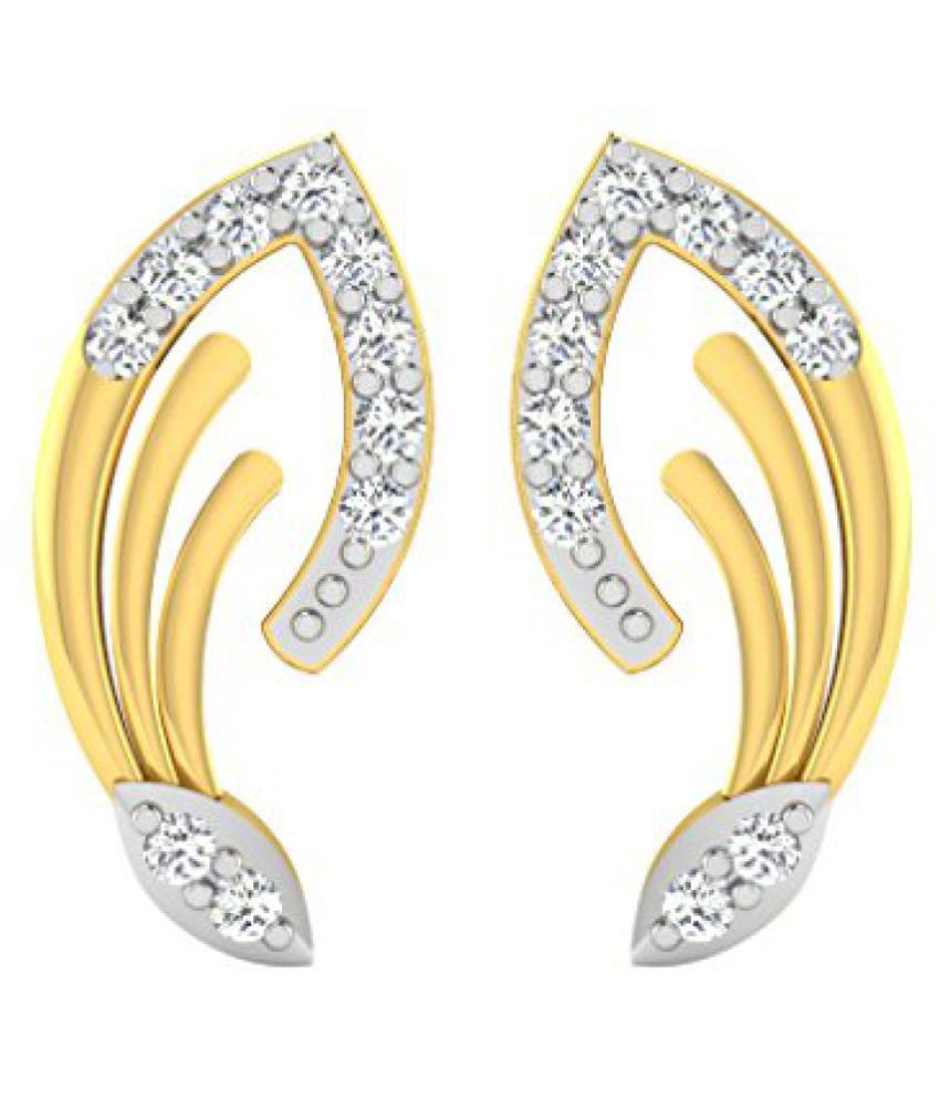 Sparkles 18k Yellow Gold and Diamond Drop Earrings