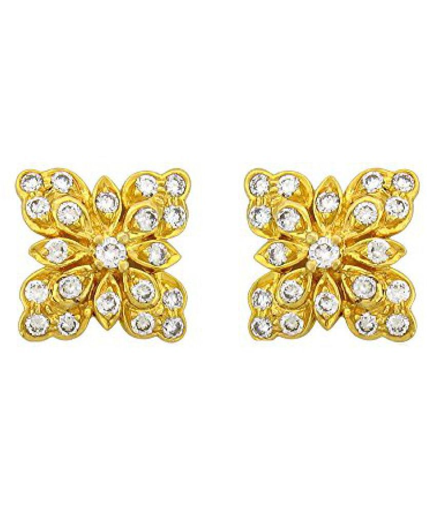 Sparkles .925 Sterling Silver and Diamond Stud Earrings