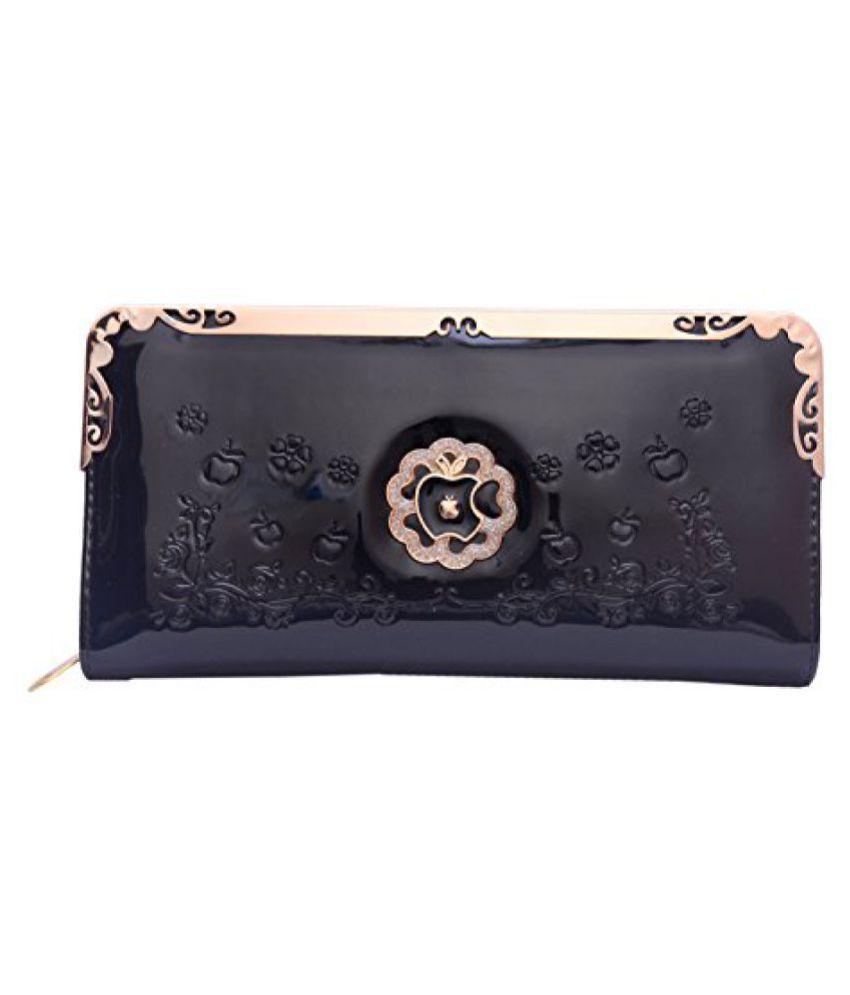 Ruff Black Elegant Fashionable Stylish Designer Casual Hand clutch Hand purse Wedding Purse Party Wear Hand Clutch