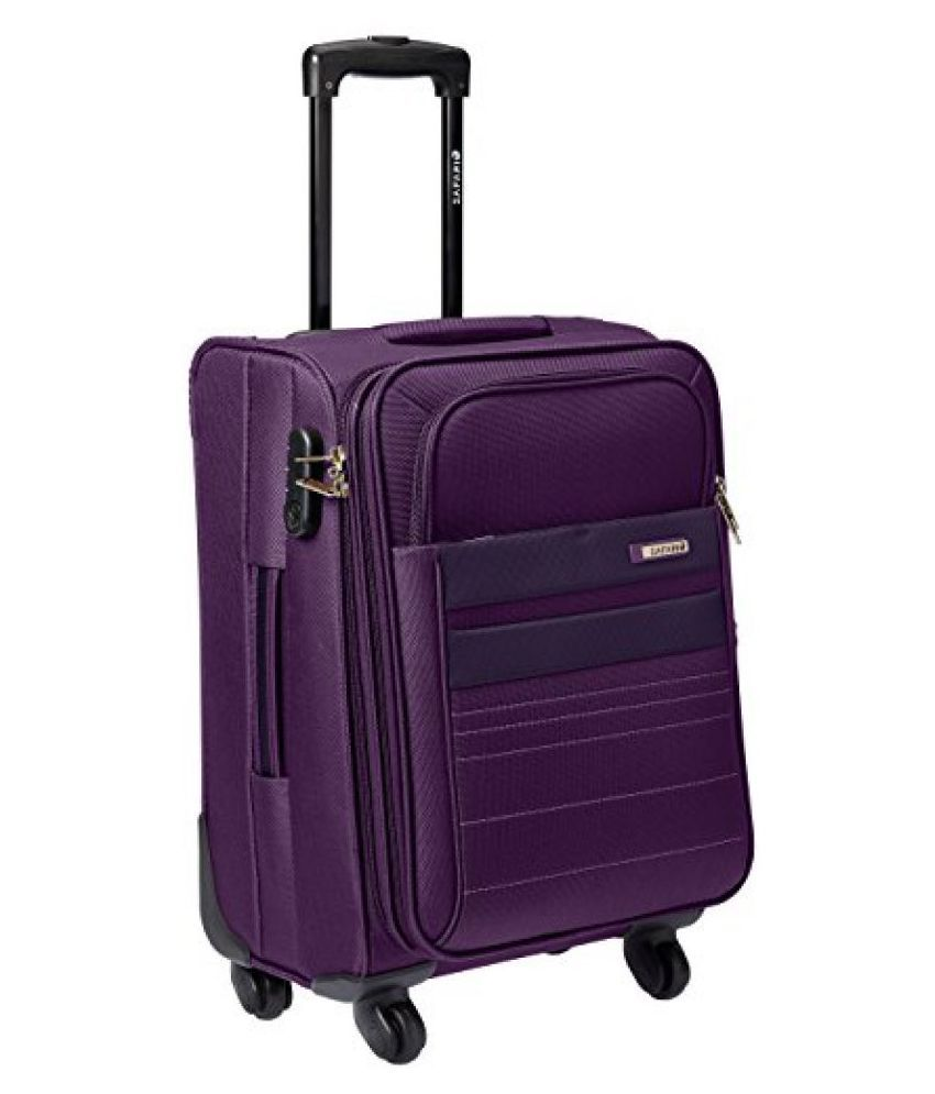Safari Allstorm Fabric 58 cms Purple Softsided Carry-On (ALLSTORM 56 4 Wheel Trolley Case) Small Luggage