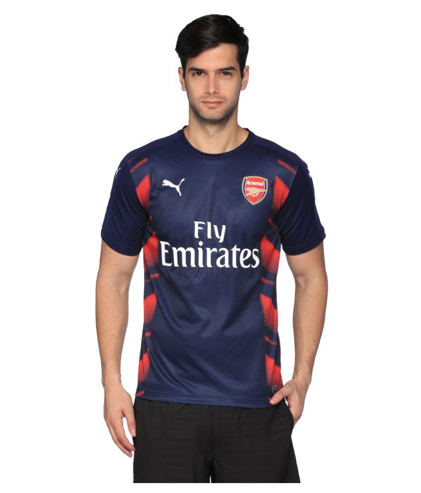 Puma Navy Cotton Blend T-Shirt