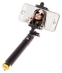 Ashu Aux Wire Selfie Stick - Black