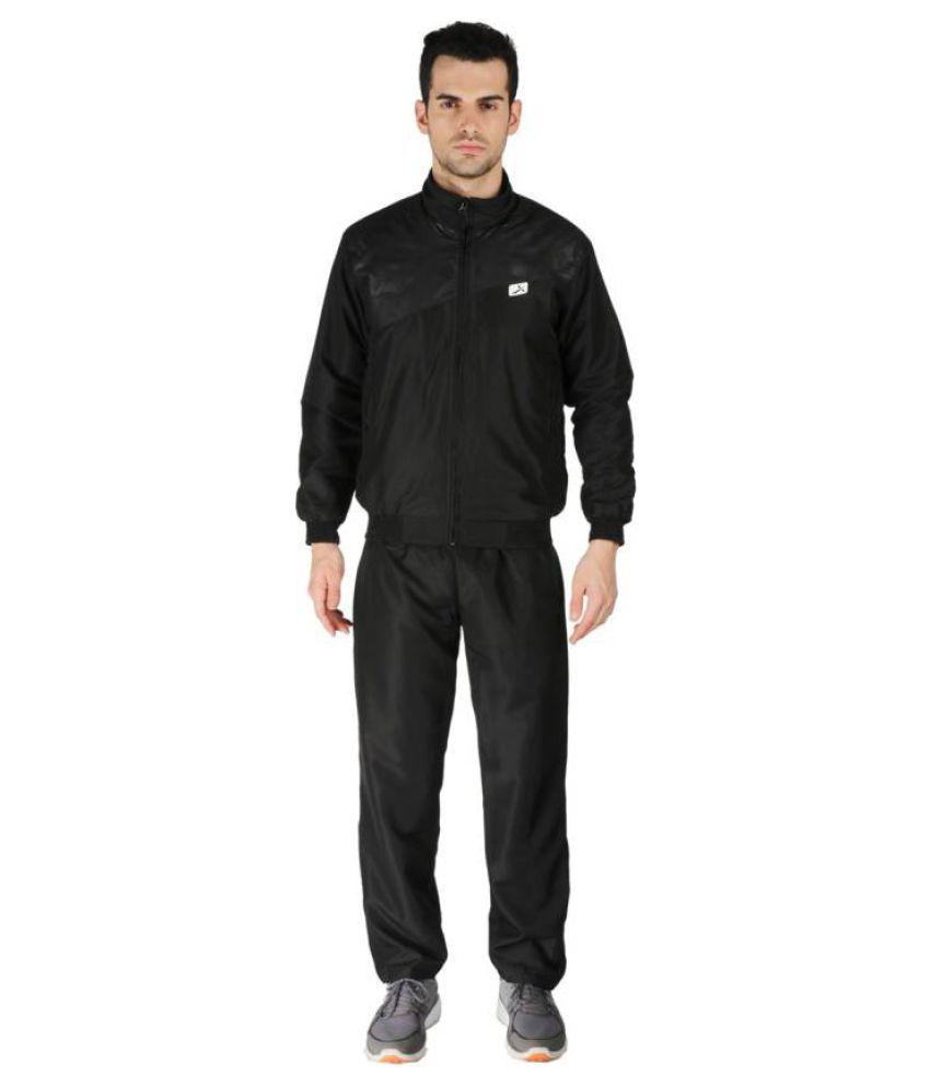 Vector X VTS-Dragon Black Solid Men's Track Suit
