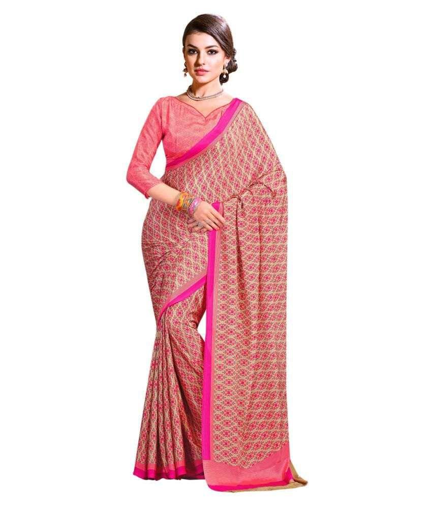 Roop Kashish Multicoloured Crepe Saree
