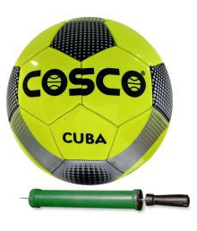 Cosco Cuba Football With Pump Size-5 Assorted Football Size- 5