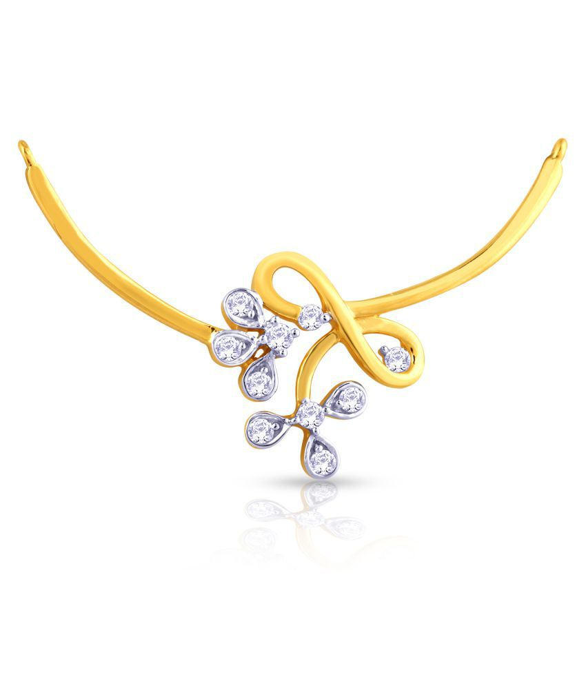 Malabar Gold and Diamonds 22k Gold Diamond Mangalsutra