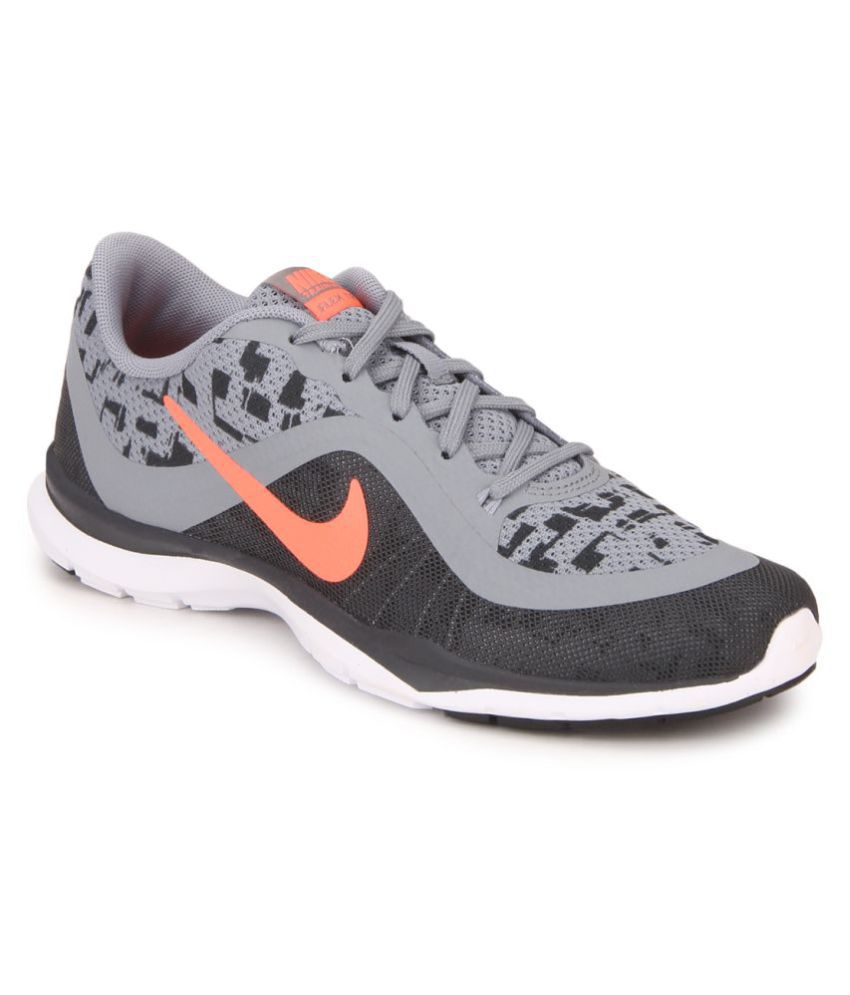 Nike W Flex Trainer 6 Print Gray Running Shoes